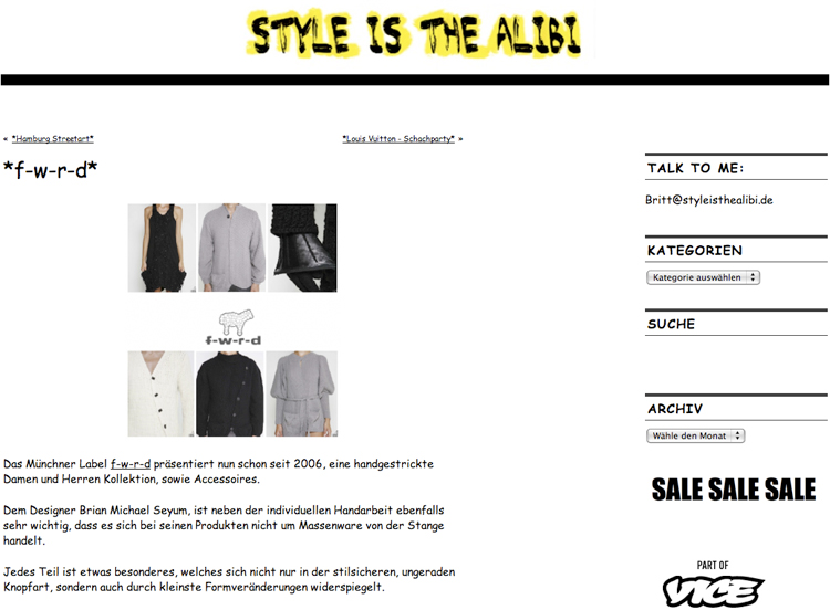 style is an alibi